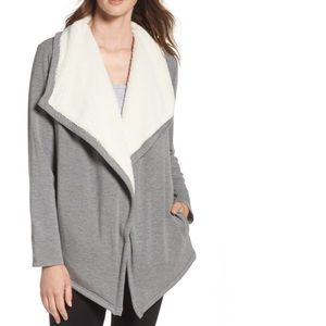 Ugg Faux Shearling Shawl Cardigan medium